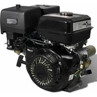 Petrol Engine 15 HP 9.6 kW Black - VIDAXL