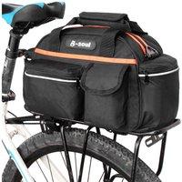B-soul - 15L Bike Rear Seat Bag Rack Trunk Basket Pannier Bag Cycling Luggage Storage Case Shoulder Handbag