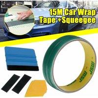 15m 5pcs / set Car Finish Line Safe DIY Cut Line Vinyl Wrapping Tape Without Knife Tape Car Film Tool