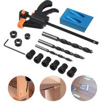 15pcs Woodworking Pocket Hole Jig with Drill Bits and Clamp Drill Angle Hole Locator Woodworking Carpentry Tool