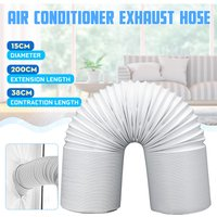 15X200Cm White Polypropylene Exhaust Pipe Tube And Steel Wire For Portable Air Conditioner