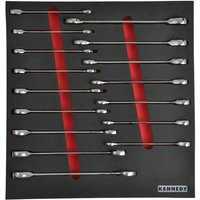 Kennedy 16 Piece Metric/AF Professional Ratchet Combination Spanner Set in Tool
