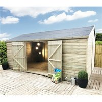 Marlborough Installed(bs) - 16 x 10 WINDOWLESS Reverse Premier Pressure Treated Tongue And Groove Apex Shed With Higher Eaves And Ridge Height And
