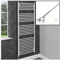 1600x600mm Bathroom Heated Towel Rail Radiator Dual Fuel Chrome Straight 29 Rail