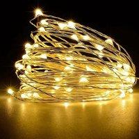 16FT 50LEDs String Lights USB Fairy Lamp Christmas Halloween Decorative Hanging Lights, Warm white