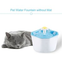 1.6L Automatic Pet Water Fountain Silent Drinking Electric Water Dispenser Feeder Bowl, Water fountain without mat - ASUPERMALL