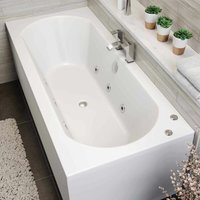 Vitura - 1700 x 700mm Whirlpool Bath Straight Double Ended Standard 6 Jets Jacuzzi Style