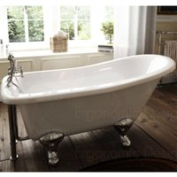 1700 X 730 Bathroom Traditional Freestanding Roll Top Bath - ERGONOMIC DESIGNS
