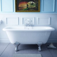 1700 X 745 Back To Wall Traditional Freestanding Roll Top Double Ended Bath - ERGONOMIC DESIGNS