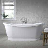 Alice 1740mm x 795mm Double Ended Slipper Freestanding Bath