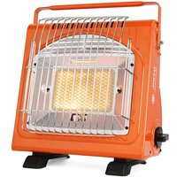 1.7KW Portable Space Heater Multifunctional Gas Heater Ceramic Heater Adjustable Iron Stove Heater for Outdoors Camping Tent Picnic,model: JY-Q1000