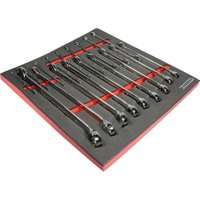 18 Piece 6 - 24MM Professional Combination Spanner Set in Tool Control 2 - Kennedy