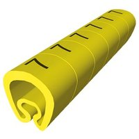 18 Señalizadores precortados amarillo Ø8 PVC