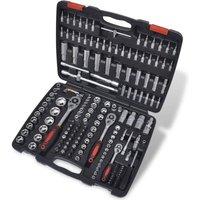 Zqyrlar - 193 pcs 1/4 and 3/8 and 1/2 Drive Socket Bit Set with Ratchet Tool Set