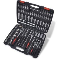 Betterlifegb - 193 pcs 1/4 and 3/8 and 1/2 Drive Socket Bit Set with Ratchet Tool Set3518-Serial number