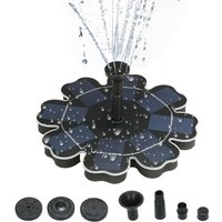 195mm/7.68 Solar Power Fountain Flower-shape Solar Panel Energy-saving Water Pump for Garden Patio Pond Fish Tank Decoration Plants Watering