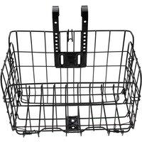 Maerex - 1pc Bike Bicycle Front Basket Mesh Lift Off Carrier Bracket Shopping Storage Carry black