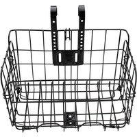 1pc Bike Bicycle Front Basket Mesh Lift Off Carrier Bracket Shopping Storage Carry black