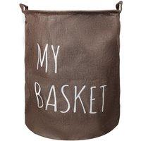 1PC Dirty Clothes Storage Bag Laundry Hamper Basket Washing Bin Foldable brown