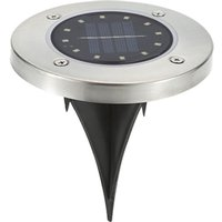 1pcs 12 LED Solar Power In-ground Lamp Buried Light Outdoor Path Way Garden Decking Underground Lamps,model:Warm white