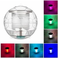 Zqyrlar - 1pcs Solar Waterproof Pool Lights Floating Night Light with Color Changing for Swimming Pool Pond Fountain Garden Party Home Decor,