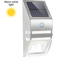 1pcs Stainless Steel Solar Motion Sensor Lights Outdoor Decorative Solar Powered LED Powered Security Lights Waterproof for Front Door Patio Deck