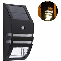 1pcs Stainless Steel Solar Motion Sensor Lights Outdoor Decorative Solar Powered LED Powered Security Lights Waterproof for Front Door Patio Fence