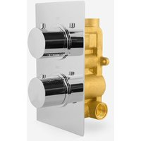 2 Dial 1 Outlet Concealed Thermostatic Shower - Round - Refined valve - NESHOME