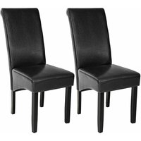 Dining chairs with ergonomic seat shape - dining room chairs, kitchen chairs, dining table chairs - black