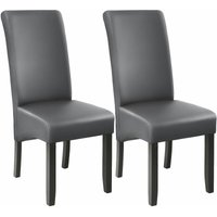 Dining chairs with ergonomic seat shape - dining room chairs, kitchen chairs, dining table chairs - grey - TECTAKE