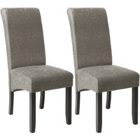 Tectake - Dining chairs with ergonomic seat shape - dining room chairs, kitchen chairs, dining table chairs - gray marbled