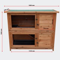 2 floors Nagerhaus- hare and rabbit hutch rabbits House Small Animal House 1220 x 500 x 1040 mm - MERCATOXL