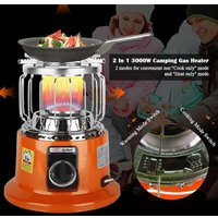 2 In 1 3000W Portable Heater Camping Stove Heating Cooker For Indoor Outdoor Cooking Backpacking Ice Fishing Camping Hiking,model: Liquefied Gas