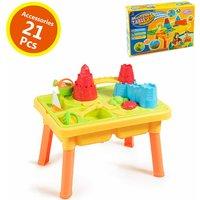2 IN 1 Beach Toy Set Children Kids Sand and Water Table Set Garden Sandpit Play - COSTWAY