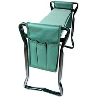 2 in 1 portable garden kneeler stool seat, folding knee pad garden bench with 2 small tool bags lightweight practical