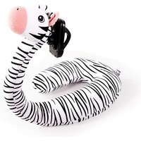 Briday - 2 in 1 U Shaped Pillow Laptop Neck Support, Lazy Cell Phone Stand, U Shaped Pillow, Cute Cartoon Animal Neck Pillow-zebra