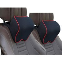 2 Pack Car Seat , Auto Head Neck Support Pillow for Relieving Neck Fatigue, Comfort Headrest Cushion for Chair, 100% Pure Memory Foam and Ergonomic
