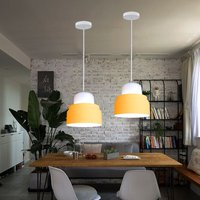 2 Pack-Modern Pendant Light Minimalist Style Hanging Light Easy Installation Pendant Lamp Yellow Retro Ceiling Light for Kitchen Dining Room Table