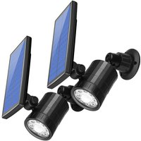 [2 Pack] Outdoor Motion Detector Solar Light, Outdoor Solar Safety Lights Floodlights, 800 Lumens Wireless Security Lights for Porch, Patio, Path