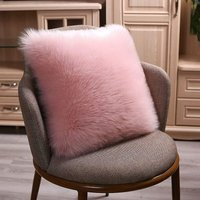 2 PCS Double-Sided Faux Fur Christmas Winter Throw Pillow Covers Set,Cushion Cases,Soft Soild Decorative Square,Pillowcases for Sofa Bedroom Car