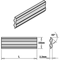 795.150.10 2-Piece Hps Planer And Jointer Knife Set For