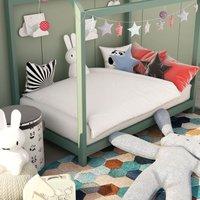 Zqyrlar - 2 Piece Kids Summer Duvet Set White 100x135 cm/40x60 cm - White