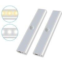 2 pieces of pilot 25 cm human body induction pilot LED cabinet light load cabinet kitchen bedroom bedside lamp
