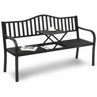 2 Seater Patio Garden Bench Outdoor Elegent Loveseat W/ Ergonomic Backrest