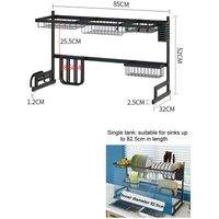 2 Tier Dish Drainer Rack Storage Drip Tray Sink Drying 85CM