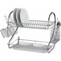 2 Tier Dish Drainer - S/Steel