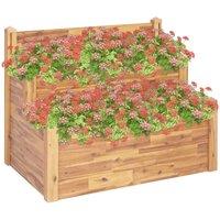 Betterlifegb - 2-Tier Garden Planter 110x75x84 cm Solid Acacia Wood32714-Serial number
