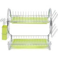 Lbtn - 2-tier green dish drainer