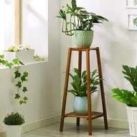 Augienb - 2 Tier Tall Plant Stand Flower Pot Rack Holder