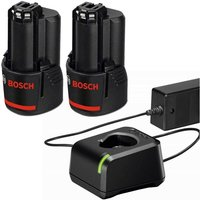 2 x Bosch 12v / 10.8v Lithium Ion 2.0ah Battery for GSR GDR & GAL 12V-20 Charger